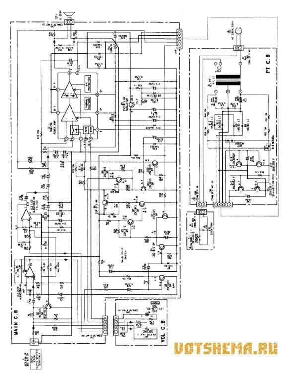 Схема активного сабвуфера Aiwa