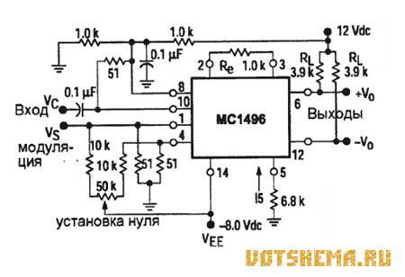 Микросхема MC1496
