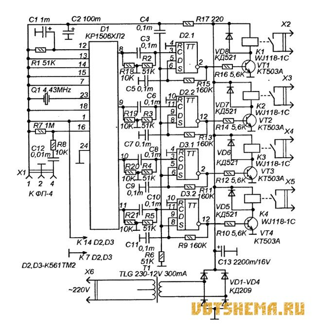 Система дистанционного управления телевизорами типа 3-УСЦТ не совместима по кодам с большинством современных...