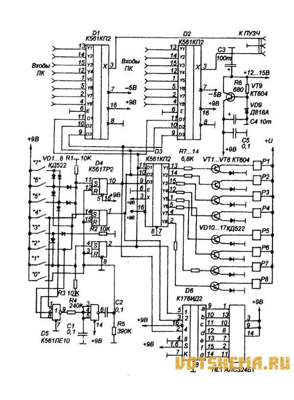 Схема блока коммутации