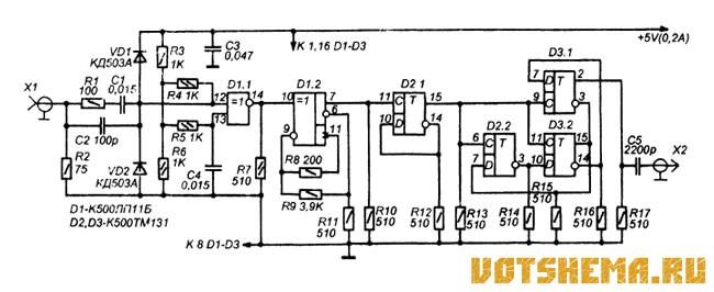 на микросхемах серий К155