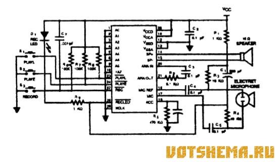 Микросхема ISD1416 - речевой