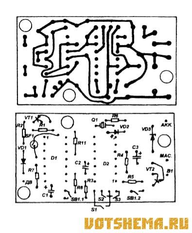 Схема автосигнализации на