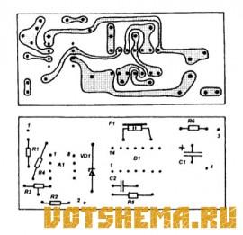 Схема индикатора обрыва ремня генератора