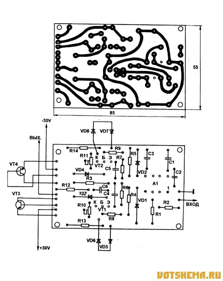 Рис. 33 Принципиальная схема двухполюсника-усилителя ...