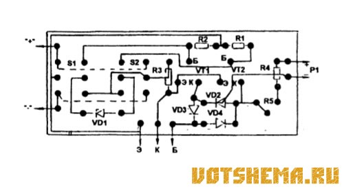 и коллектор транзистора,