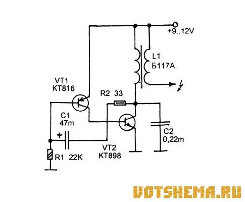 Схема генератора импульсов на