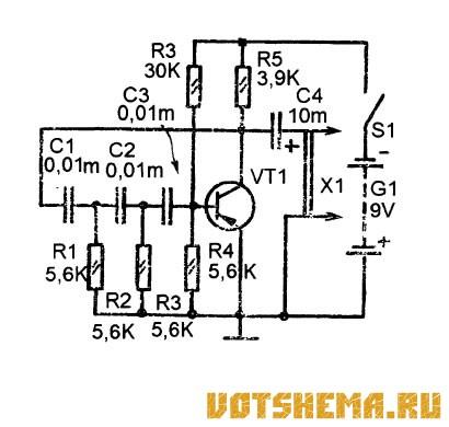 Электронные генераторы инфранизкой частоты схемы.