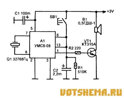 синтезатора УМС8-08,