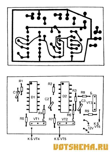 Схема источника трехфазного