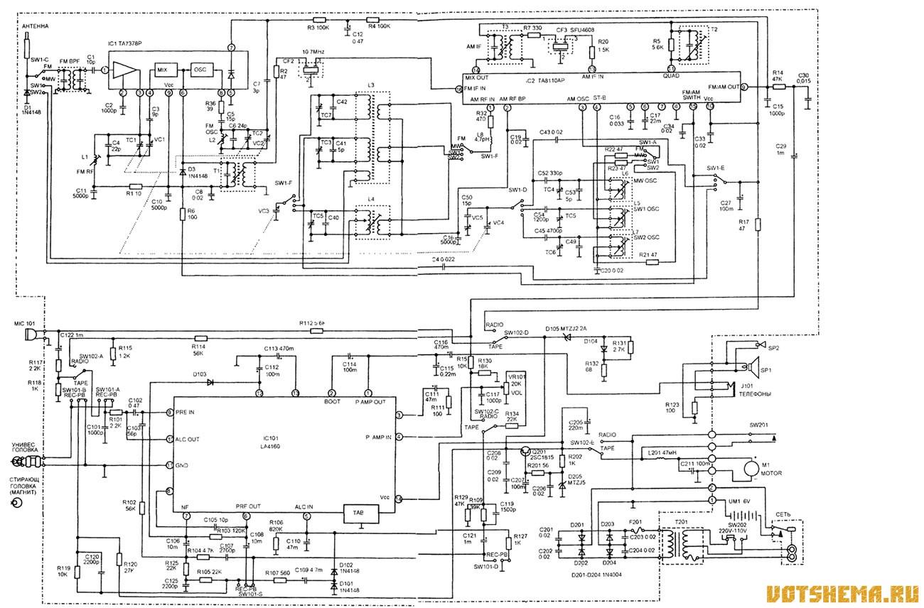 Автомобильная схема электрическая принципиальная