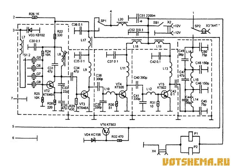 схема передатчика показана