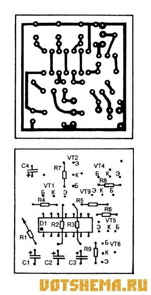 Схема автомобильного стоп-