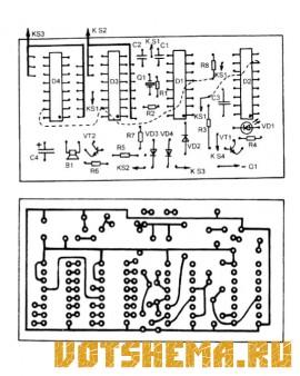 Схема бытового таймера
