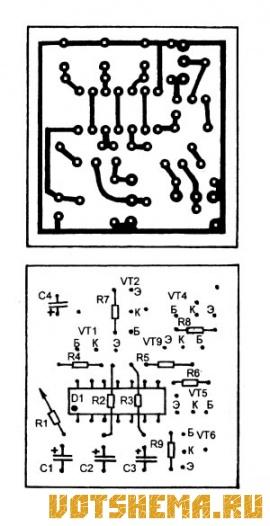 Схема автомобильного стоп-сигнала