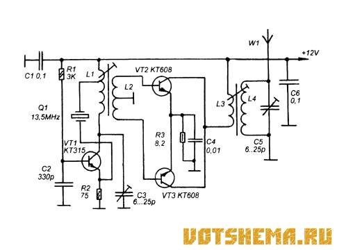 Беспроводное контрольное устройство › Вот схема ...