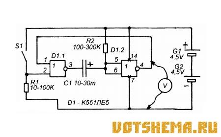Микросхема К561ЛЕ5 (К176ЛЕ5)