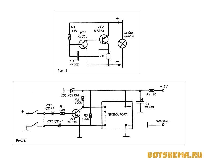 Звук по электропроводке схема
