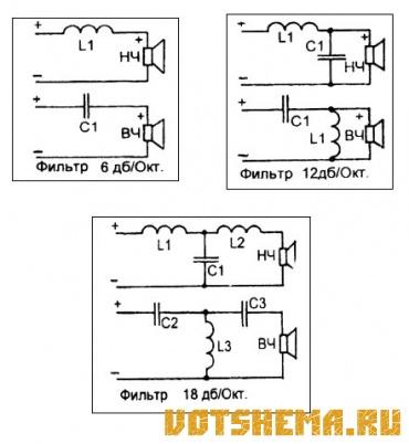Схема фильтр акустических систем
