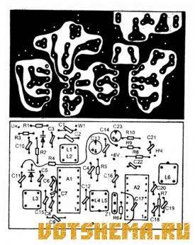 Схема УКВ-ЧМ Радио-приемный тракт
