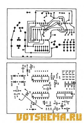Схема цифровых часов-будильника