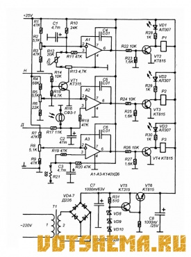 Схема автоматического тепличного таймера