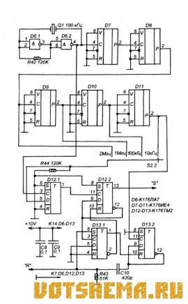 Частотомер на микросхемах К176