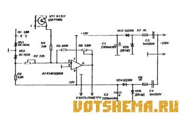 Схема термометра из мультиметра