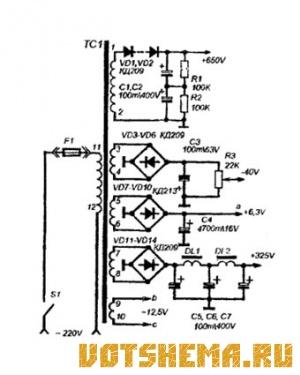 Схема лампового усилителя Hi-End.