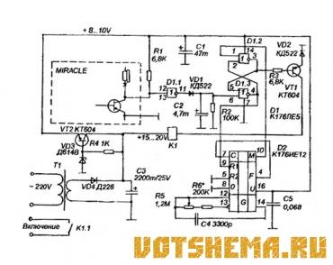 12 апр 2013 схема устройства для управления освещением аквариума датчиком автомата служит фоторезистор типа фс к1...