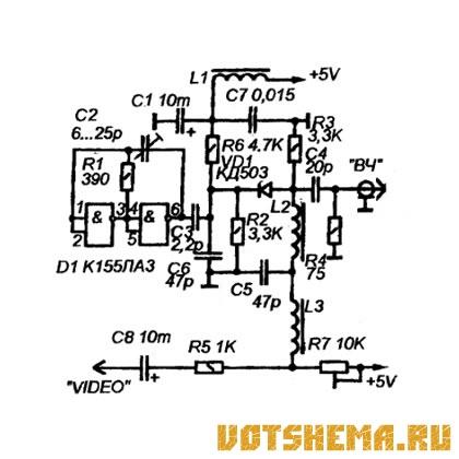 ВЧ-модулятор ТВ-сигнала.