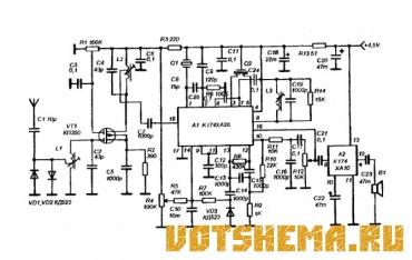 Эту схему (рисунок 2) можно использовать и для построения более высокочастотного тракта, например на 144 МГц или 160...