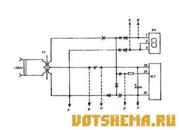 Схема радиобудильника с универсальным питанием
