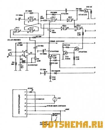 принципиальная схема автомобильной сигнализации