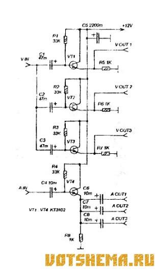Схема ог на микросхеме для кв