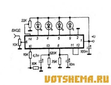 """LB1460 микросхема фирмы  """"Sanyo """", имеет корпус DIP-14, содержит четырех пороговый компаратор для светодиодной..."""