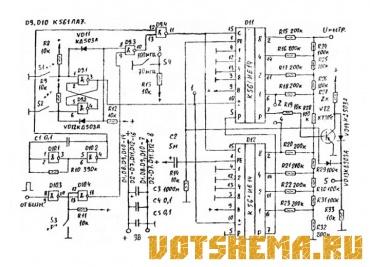 Схема узла настройки радиоприемника