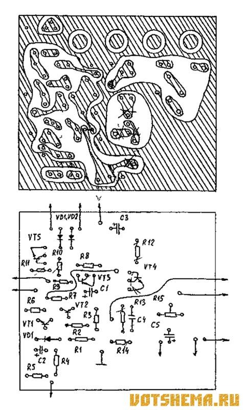 VT4 по схеме эмиттерного